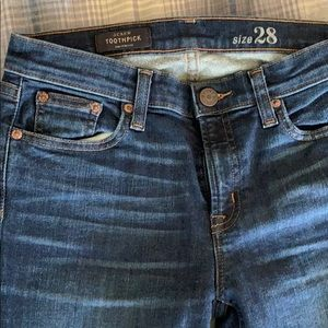 J. Crew Toothpick Stretch Jeans